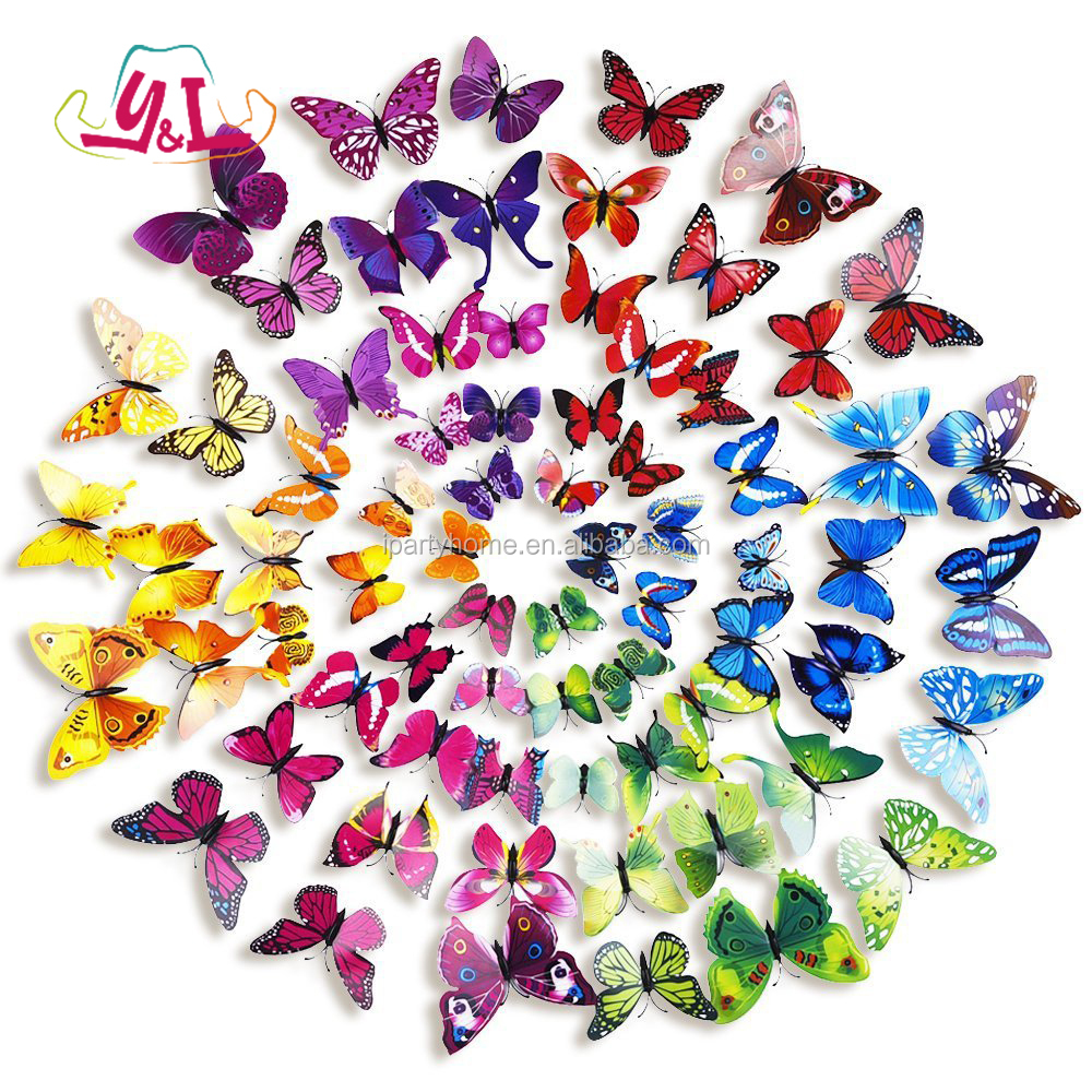 Butterfly Garden Paper Butterflies For Marriage Decoration