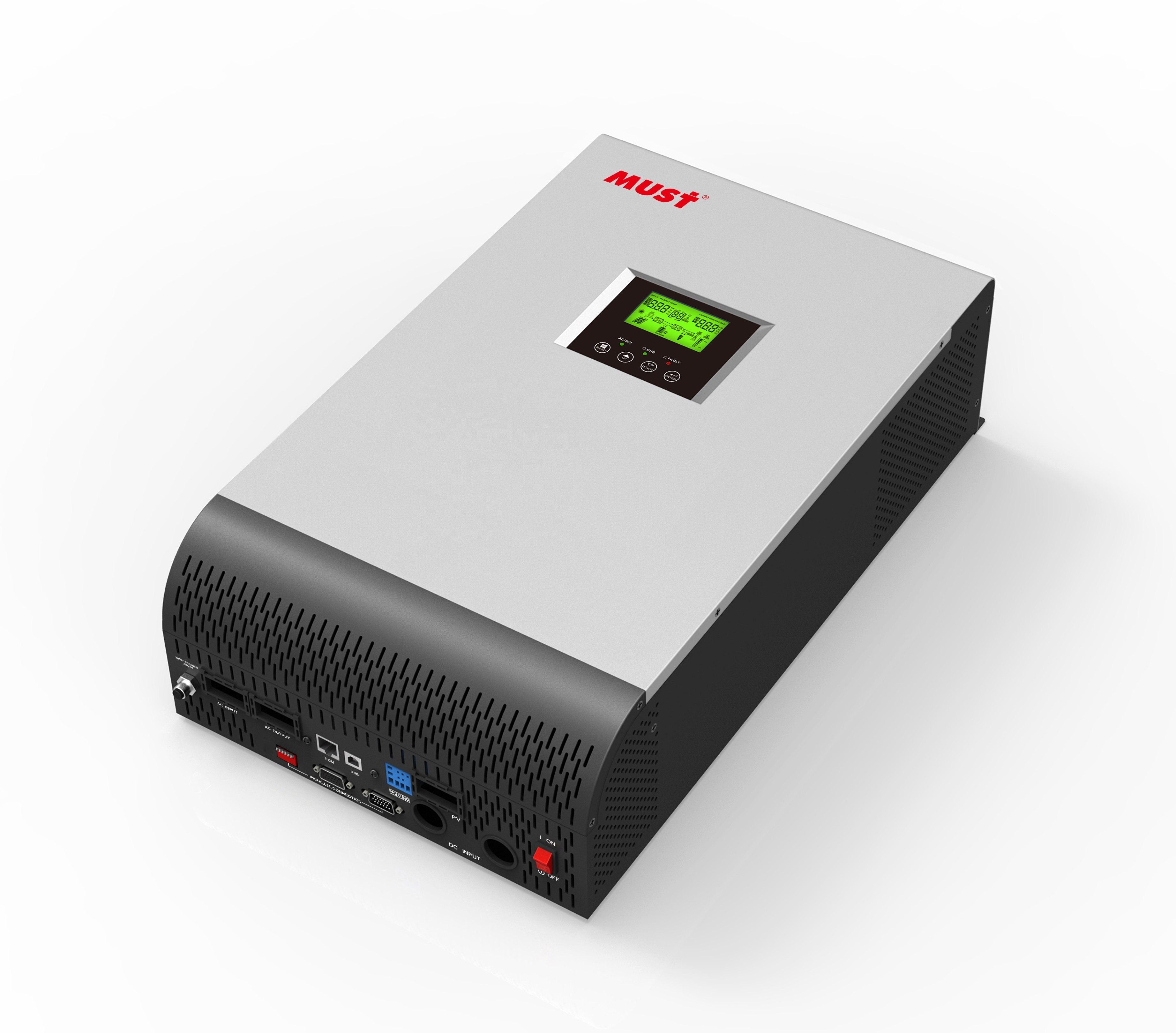 Fabrika kapalı ızgara güneş hibrid invertör 1KVA 3KVA 5KVA PV1800 mppt 80a ev kullanımı için