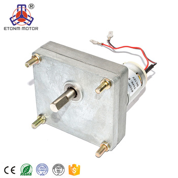 high torque dc motor 12v with flat type gearbox