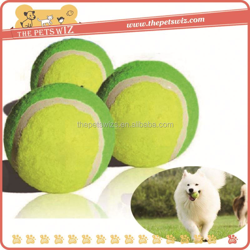 Dog tennis ball machine ,CC137 dog chewing toy tennis ball for sale