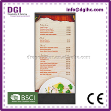 Chinese certificate high grade menu covers Turkey Markets