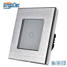 EU/UK aluminum 1 gang 2 way remote dimmer switch