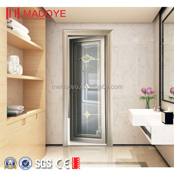Waterproof Bathroom Aluminum Glass Single French Doors Supplier - Bathroom doors waterproof