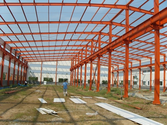 Easy Assembly Factory firm prefab car showroom structure warehouse