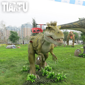 Tianfu Outdoor Lifelike Dinosaur Coin Operated Kiddie Rides For Sale