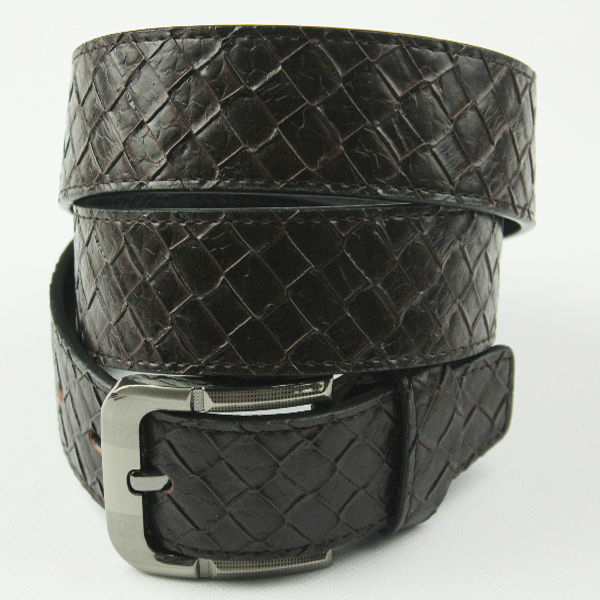 FASHION MAN'S BRAIDED GENUINE LEATHER <strong>BELT</strong> WITH REMOVEABLE <strong>BELT</strong> BUCKLE