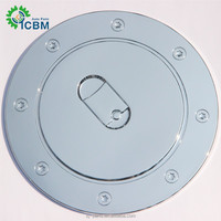 ABS Chrome Fuel Oil Gas Cap Tank Cover