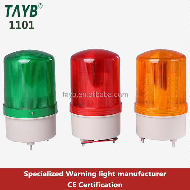 1101 Red LED magnetic Warning light DC12V 24V AC 110V 220V strobe