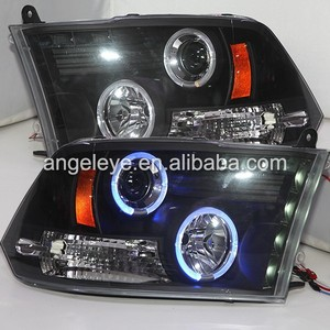 For Dodge Ram 1500 Blue Color LED Angel Eyes LED Head lights head lamp front light 2009-2015year SN style