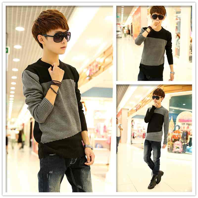ef28bda85 Get Quotations · Slim sweater mens sweater mens fashion metropolis men  mixed colors sweater