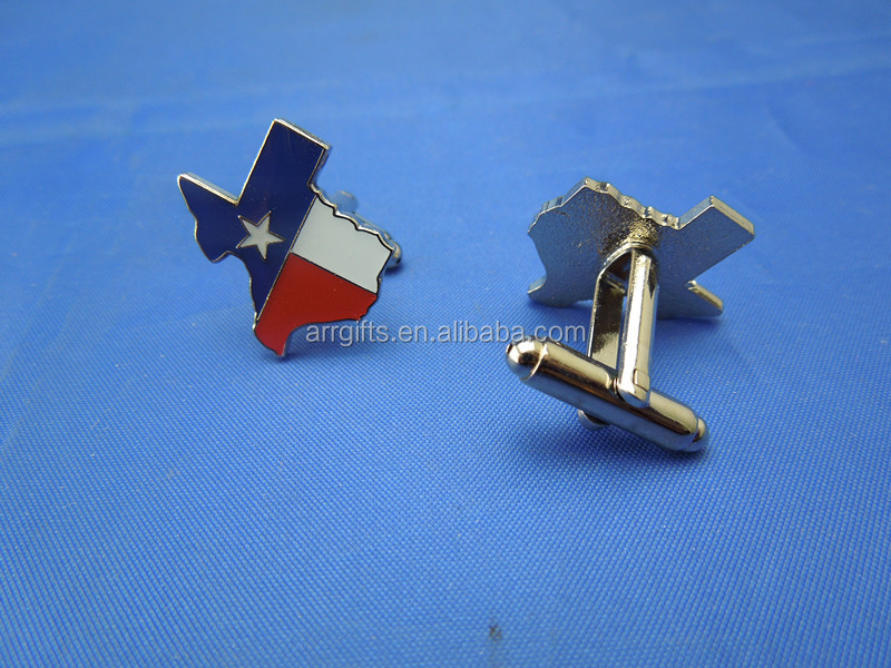 Texas US State Map Souvenir Cufflink Findings for Apparel Accessories