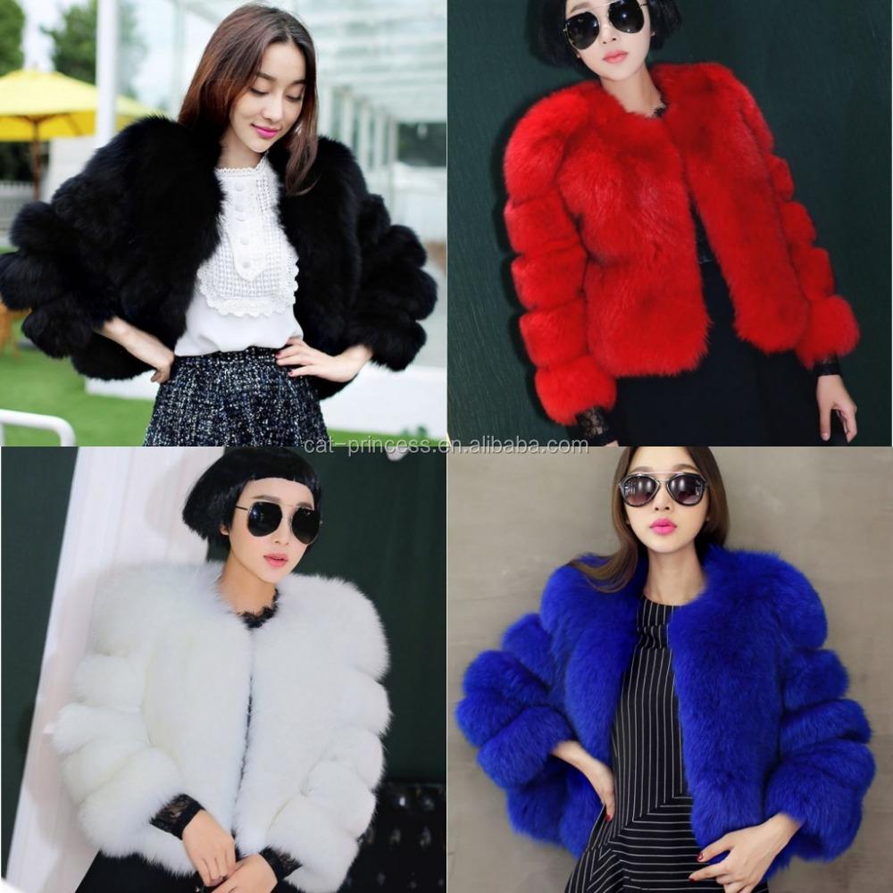 7535f55d1005 Fur Coat Winter Fashion Women Faux Fox Fur Coats Woman Fake Fur Jacket 2018