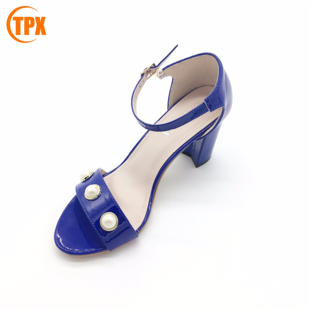 Factory wholesale ladies high heel sandals pu lady sandal of GuangZhou