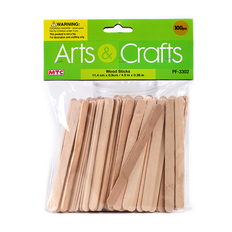 Cheap price wooden ice cream sticks for kids' diy natural colored wholesale wood stick