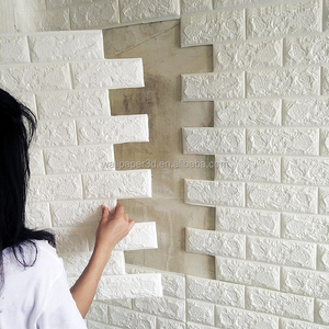 3D PE foam brick self adhesive decorative wall stickers