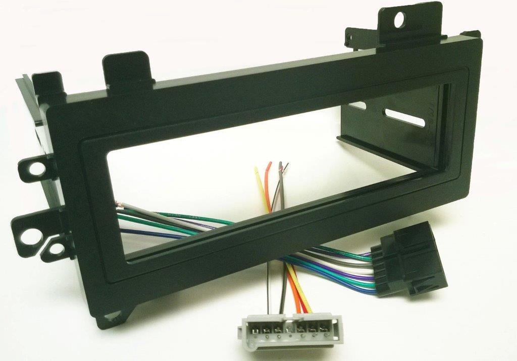 Dash kit and wire harness for installing a new Single Din Radio into a Jeep Grand Cherokee 1993 - 1998 and a Dodge Avenger 1995 - 2000