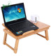 Lapdesk Foldable Laptop Bamboo Table Bed Tray Stand Laptop Table Desk