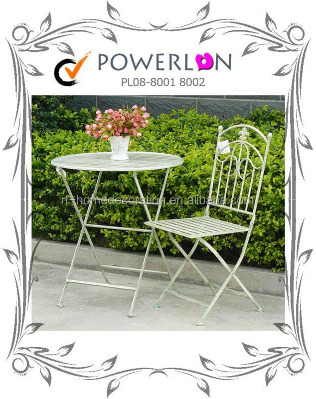 Cheap Antique Folding Metal Outdoor Table Chair Garden Furniture Set For Patio Backyard Buy