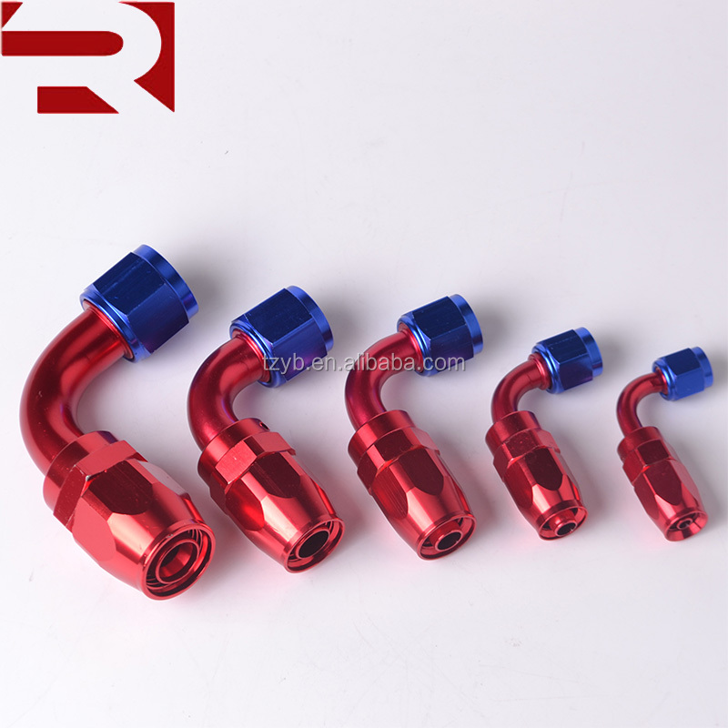 Car Tuning Parts AN Female Thread 90 degree Swivel Aluminum Elbow