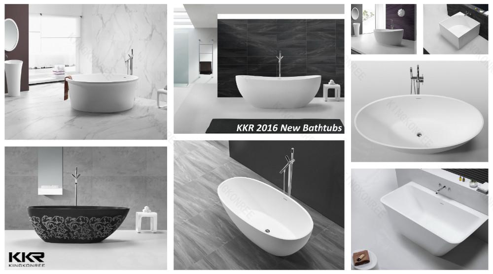 Stone tub surround stone hot tubs bathtub dimensions for Standard size of freestanding bathtub