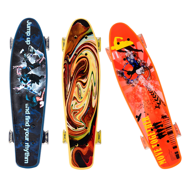 4 wheels 22 inch Fish Skateboards Complete Skate Board Decks