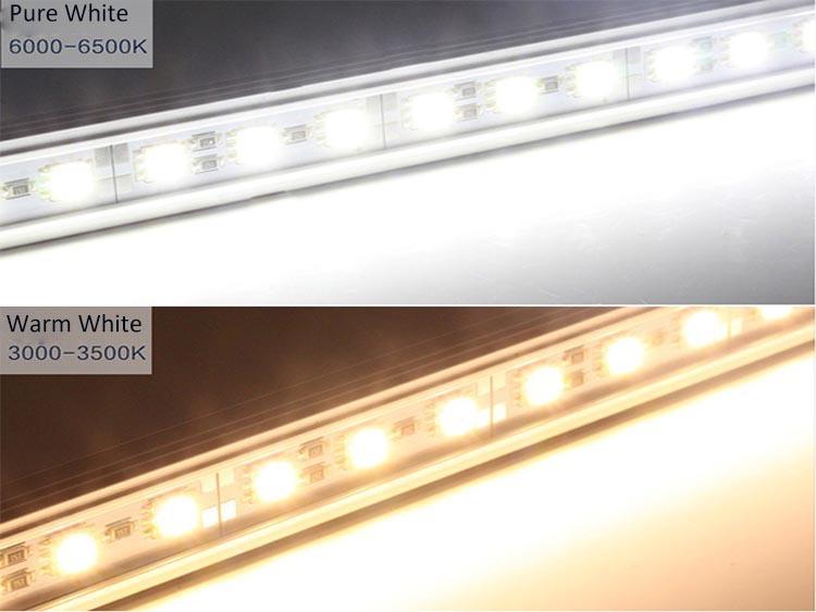 12V 24V 5050 smd led hard strip waterproof aluminum led rigid bar ...