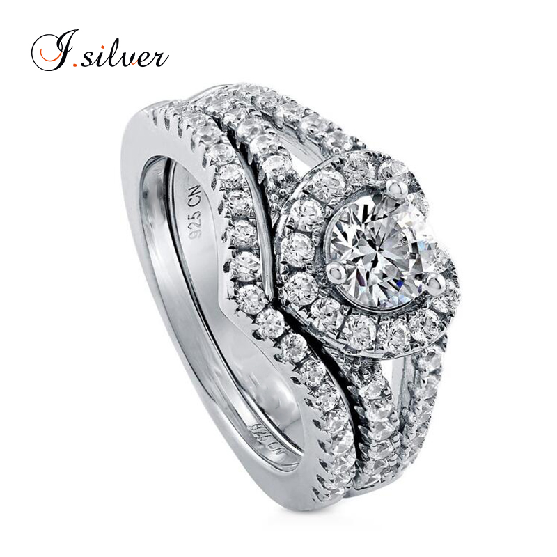 Mei Show 925 Sterling Silver Cubic Zirconia Open Ring Band Adjustable Women Girls Size 4-6