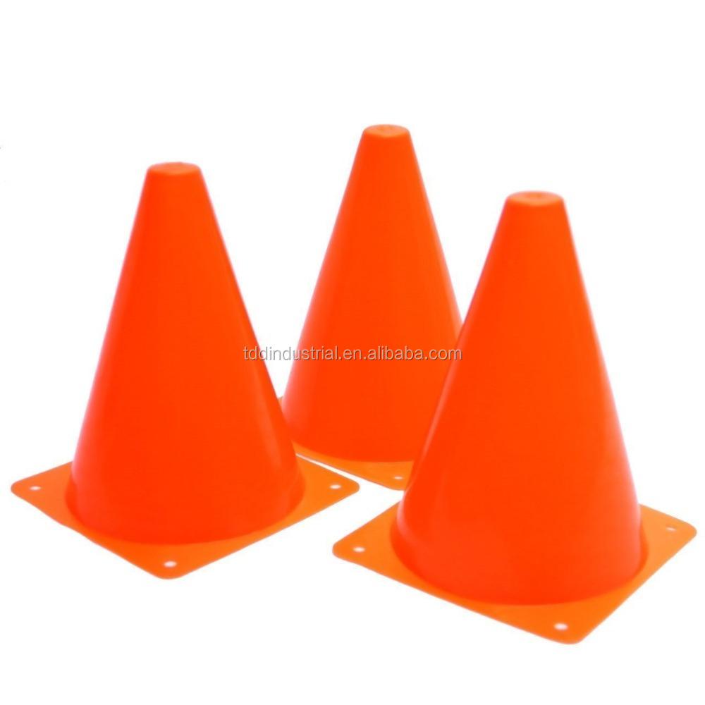 18cm Orange PVC Toys Plastic Traffic Road Safety Cones Polyethylene Road Toys