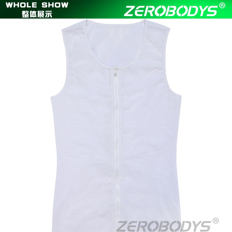388 WH ZEROBODYS Powerful 180g Powernet Zipper With Hook Eye Closure Vest Mens Bodysuit Clothing Men Waist Cincher