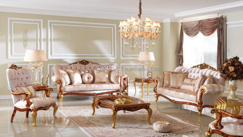 Leydi Golden Sofa Livingroom Set   Buy Royal Sofa Sets Avant Garde Classic  Antique Product On Alibaba.com