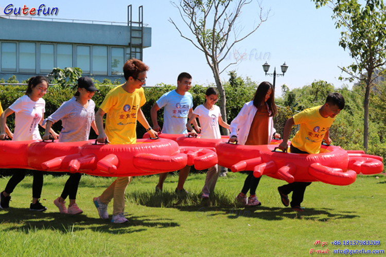 large team building interactive inflatable mantis shrimp sports games for  adult, giant inflatable interactive adult