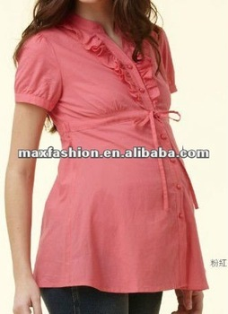 fc20553ca Rosa De Manga Corta De Maternidad Ropa Camisas - Buy Camisas De ...