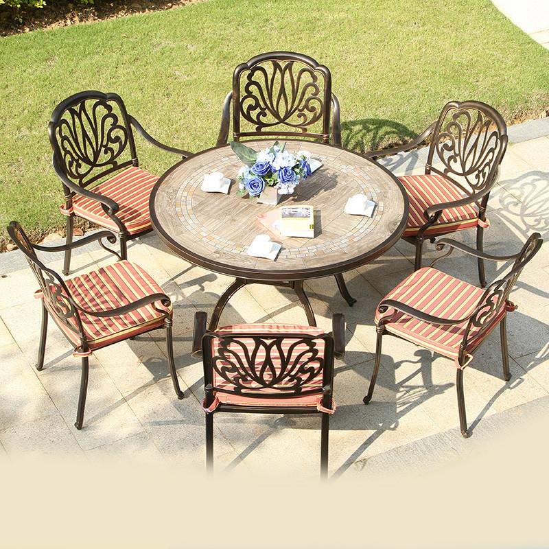 2d155ca2 De aluminio al aire libre conjunto de muebles de mesa de jardín Muebles de  jardín o