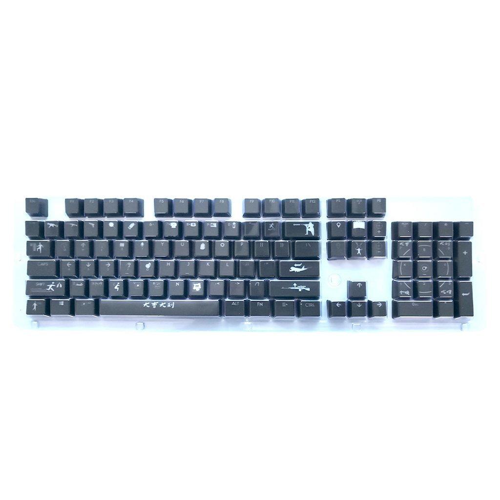Computer Peripherals 100% True 104 Keys Steampunk Round Golden Silver Black White Keycap Key Cap Keycaps Ansi Layout For Cherry Mx Gaming Mechanical Keyboard