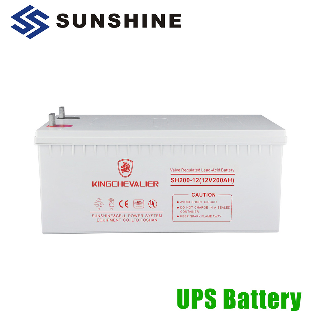 Strong Temperature Adaptability Lead Acid Storage 12V 200Ah Battery UPS