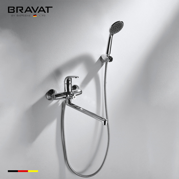 Chrome Brass Wall Mounted Concealed Bathroom Faucet Set Rain Shower ...
