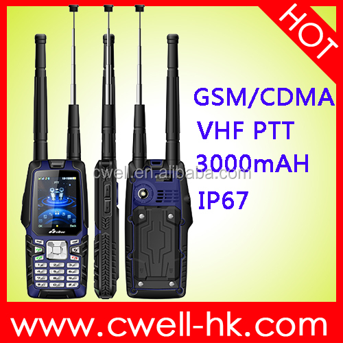 Olive W18 2.4 inch QVGA Display IP67 Waterpoof UHF/VHF Walkie Talkie Strong CDMA Signal 450MHz CDMA Phone