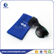 Colorful screen printing pu pouch with spring for glasses