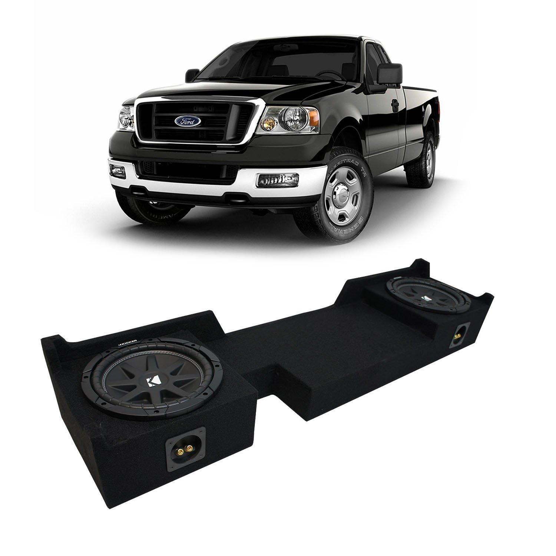 "2004-2008 Ford F-150 Ext Super Cab Truck Kicker Comp C10 Dual 10"" Sub Box Enclosure - Final 2 Ohm"