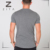 Droge fit blank korte mens workout spier ronde zoom t-shirts groothandel