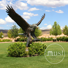 Garden Decoration Metal Craft Bronze Life Size Eagle Statue