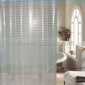 2015 Hot Sale Super Clear Pvc Shower Curtain PvcPEVA