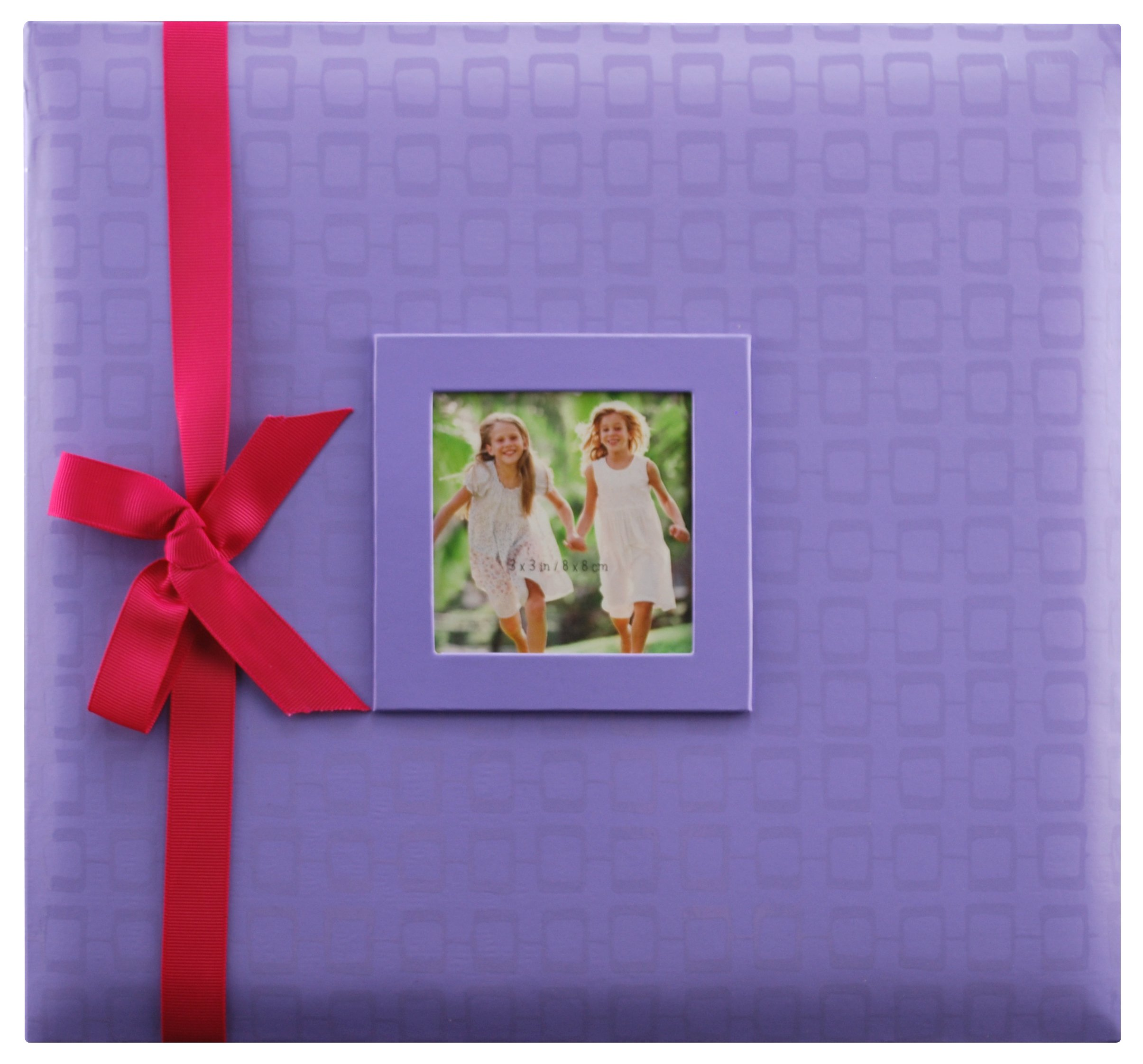 MCS MBI 13.5x12.5 Inch Embossed Gloss Brights Scrapbook Album with 12x12 Inch Pages, Purple (866930)