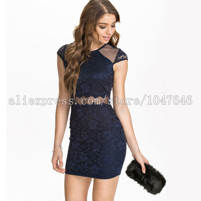 533b4d130f899 summer style fence round neck sleeveless sexy openwork lace stitching tight  stretch bodycon dress summer dress free shipping