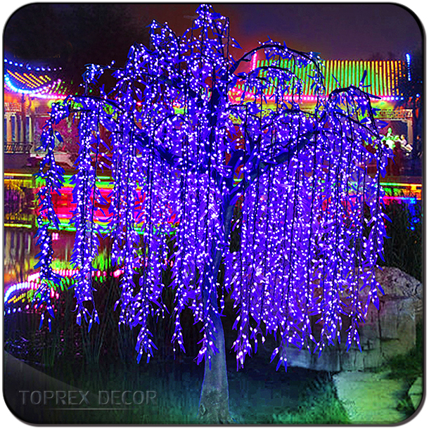 Outdoor Led Lighted Artificial Weeping Willow Branches