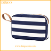 Eco wholesale plain small travel polyester canvas cosmetic bag