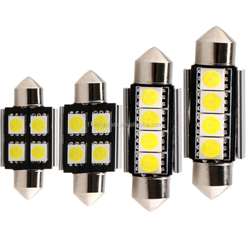 auto interior lamp car light led 12v 21w c5w light 12v canbus Festoon 5050 4SMD car led reading light 12v