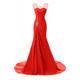Red Evening Dress Long Gown Women Mermaid Prom Dresses Party Evening Wear Gown for Ladies