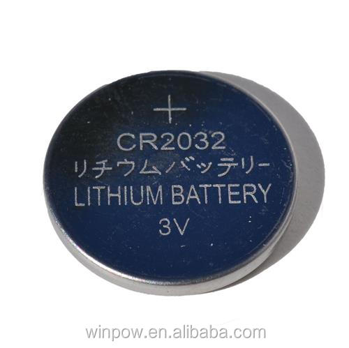 Nickel leads CMOS LiMnO2 3v coin cell CR2032 battery