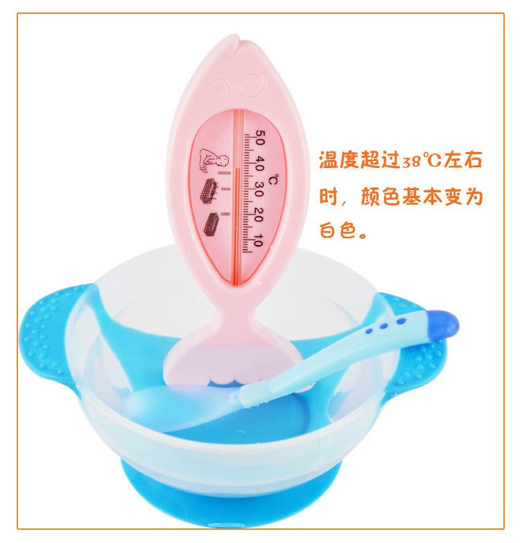 Безопасный измерения температуры ложка младенцы столовые приборы питание ложка вилка посуда 1 пк